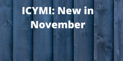 ICYMI: New in November