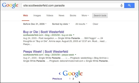 [scottwesterfeld parasite] earliest post