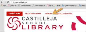 find ebooks on the library website