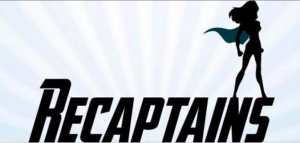 the logo for the Recaptains website