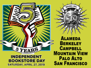 Graphic advertising Independent Bookstore Day on Saturday April 27th
